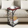 C-shaped Side Sofa Snack Table Coffee Tray End Table Living Room Furniture
