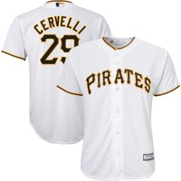 Francisco Cervelli Pittsburgh Pirates Majestic Youth Home Official Cool Base Player Jersey - White