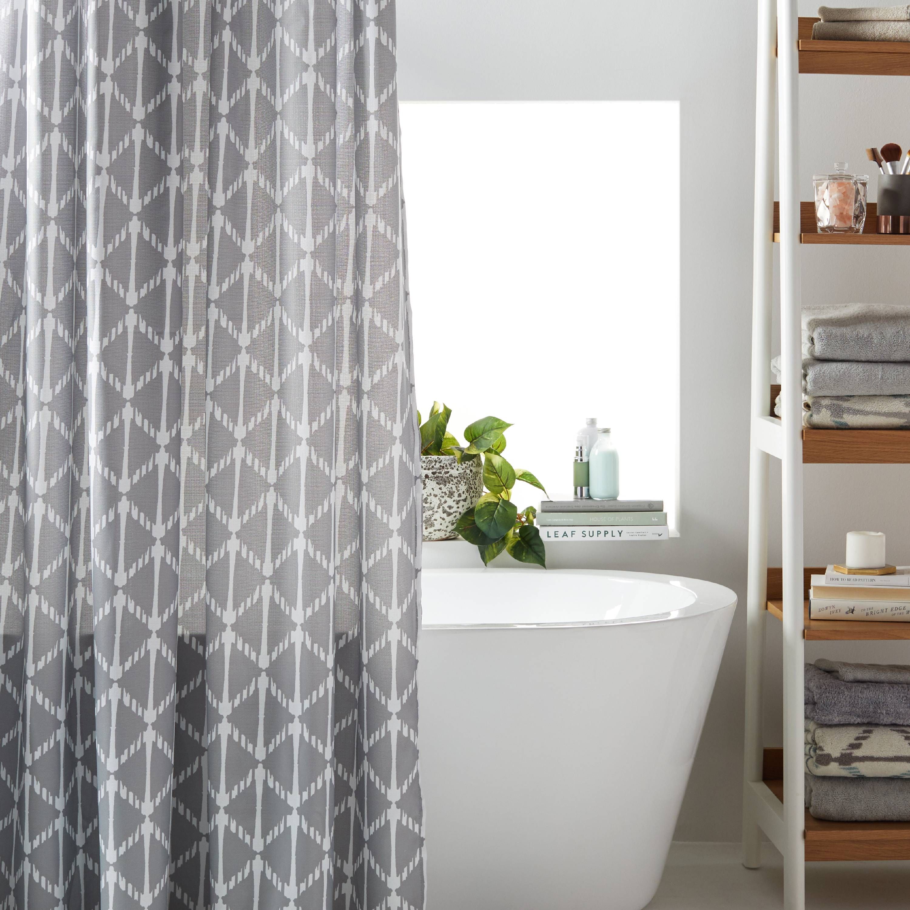 MoDRN Geometric Print Shower Curtain