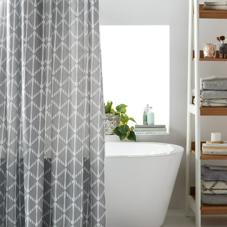 MoDRN Geometric Print Shower Curtain