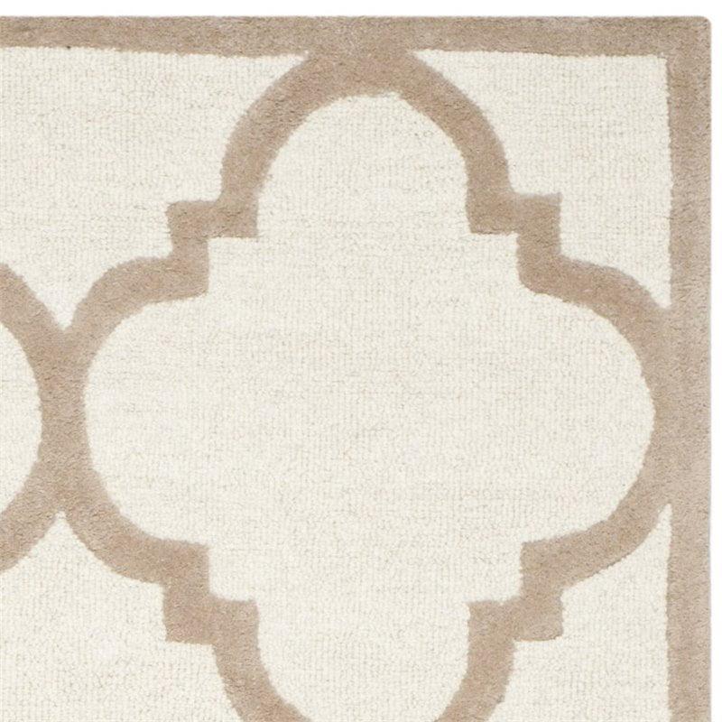 Safavieh Cambridge 2' X 3' Hand Tufted Wool Rug in Ivory and Beige - image 2 de 3