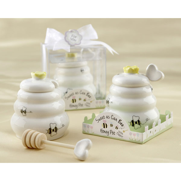 Kate Aspen 23014WT Sweet As Can Bee Ceramic Honey Pot wit...