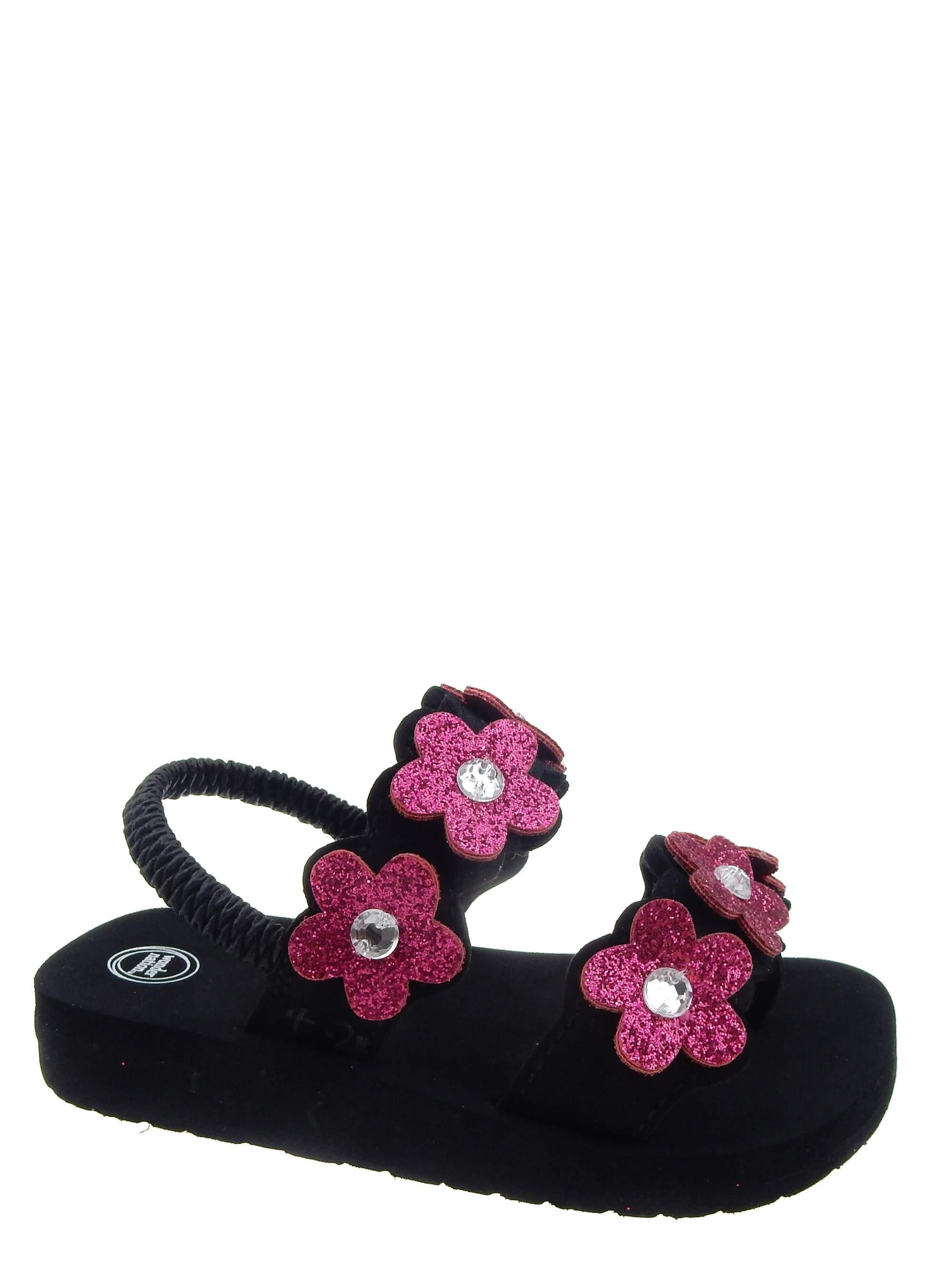 Wonder Nation Girls' Flower Beach Sandal
