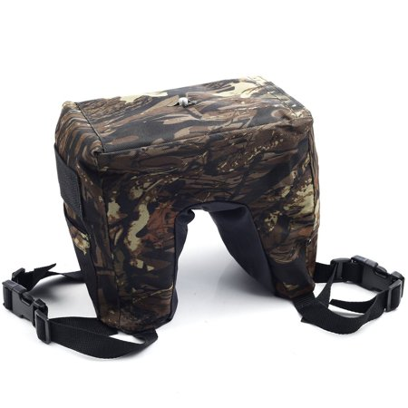 Movo Photo THB04 Camouflage Camera Lens Bean Bag with Head Mounting Plate - Deep Woods (Fullsize)