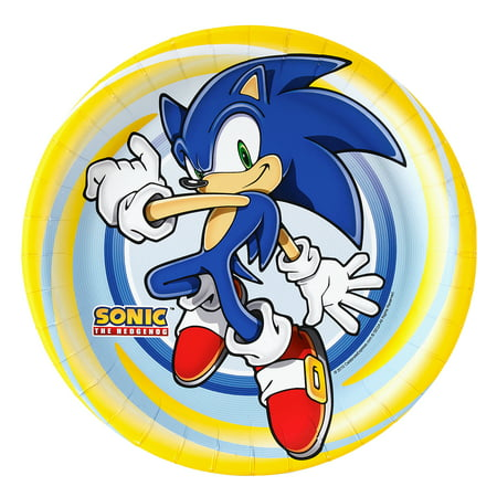 Sonic The Hedgehog Party Supplies 16 Pack Lunch Plates