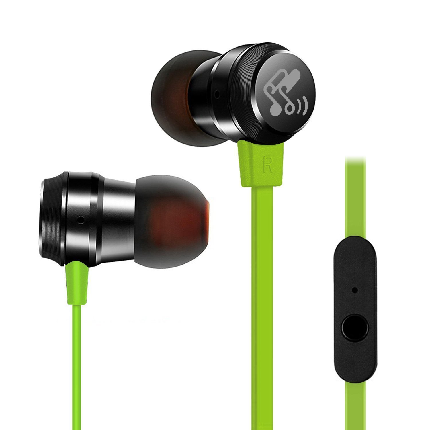 SoundPEATS In-Ear Headphones Noise Cancelling Earphones Stereo Ergonomic Comfort-Fit Earbuds with Mi