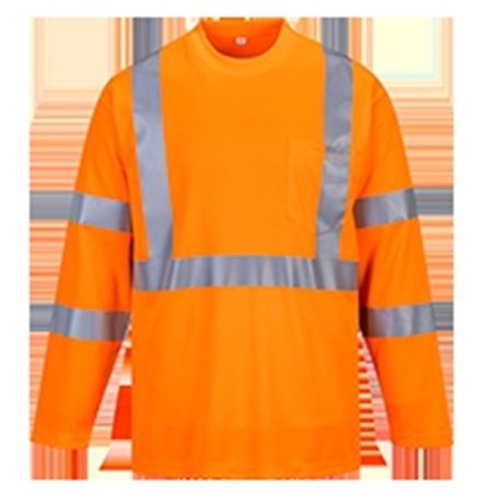 Portwest S191 2XL Hi-Visibility Long Sleeved T-Shirt, Yellow - Regular - image 1 of 1