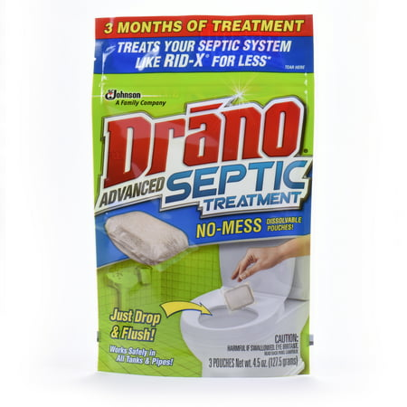 Drano Advanced Septic Treatment 3 count