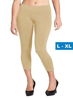 62843c4aef39f Free shipping. Product Image Women Seamless Basic Stretch Capri Leggings  Large X-Large