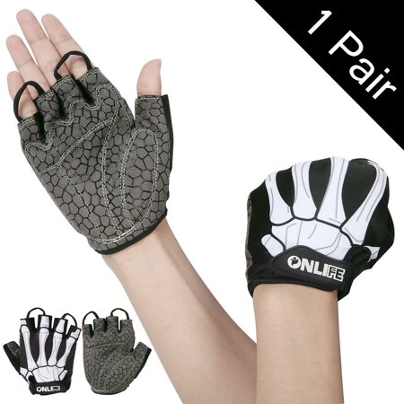 Nlife Cycling Gloves Sport Gloves with Shock-absorbing Foam Pad Breathable  Half Finger Gloves for Weightlifting Bicycle Riding Bike Road Racing Rowing