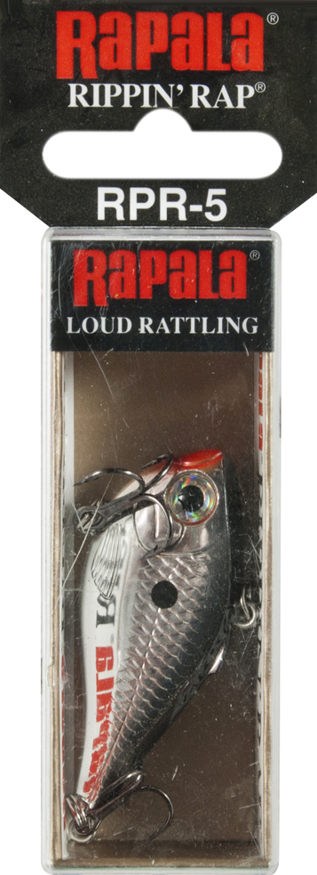 Click here to buy Rapala Rippin' Rap 05 Fishing lure, 2-Inch, Chrome Multi-Colored by Rapala.