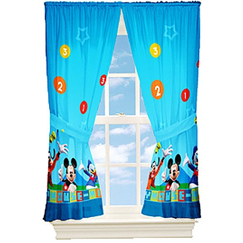 Mickey Mouse-dis Mickey Mouse Kids Bedroom Curtains - Walmart.com