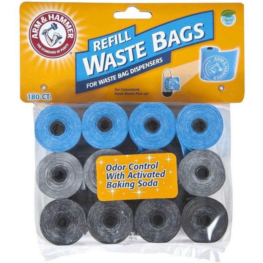 Arm & Hammer Assorted Disposable Waste Bag Refills, 180 Count