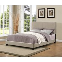 Handy Living Christie Grey Upholstered Queen Bed w/Nail Head Deals