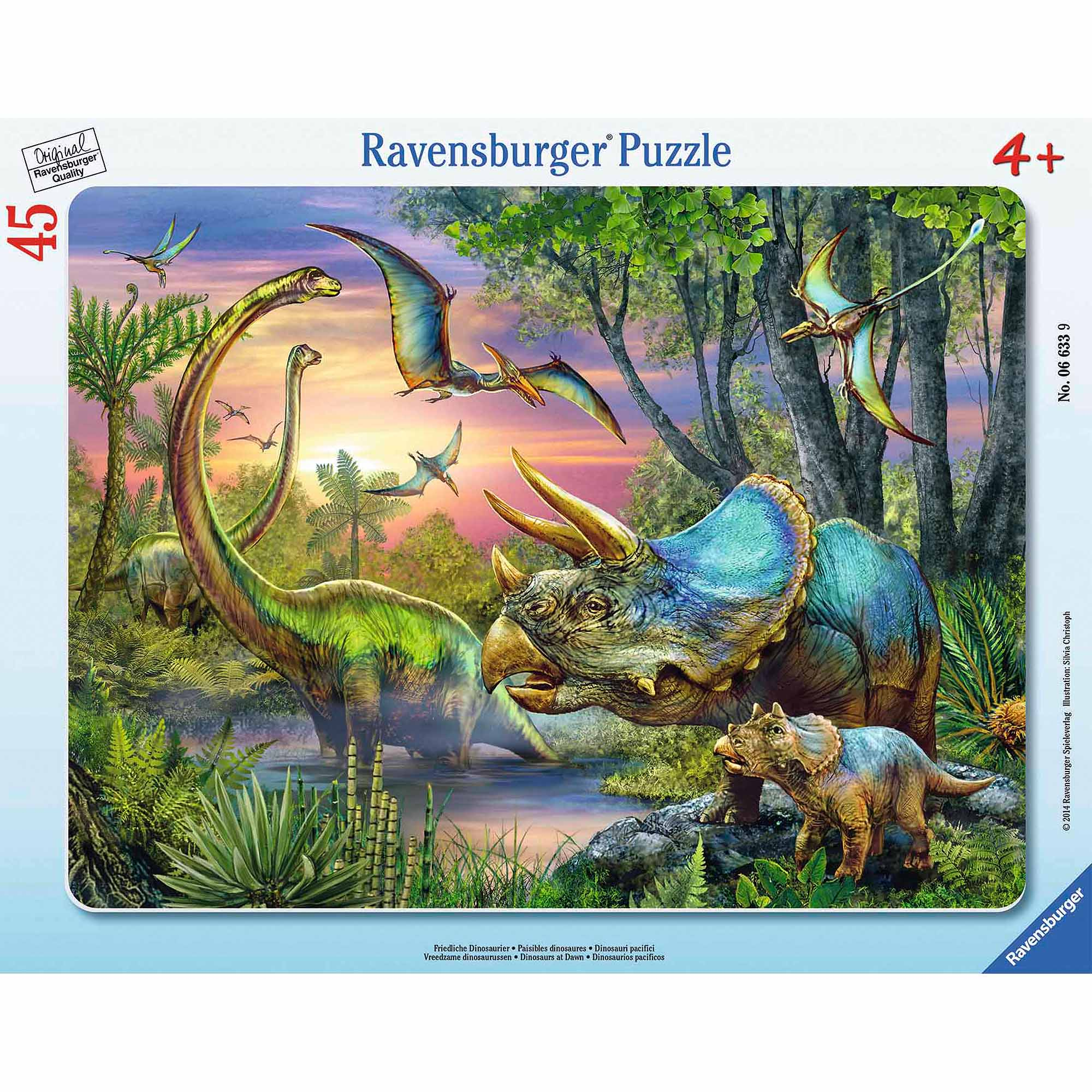 Dinosaurs at Dawn Frame Puzzle, 45 Pieces by Ravensburger