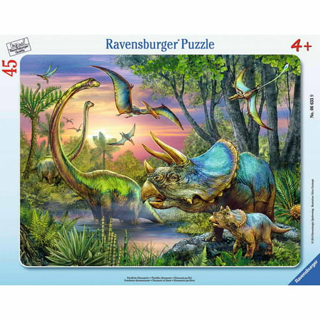 Dinosaurs at Dawn Frame Puzzle, 45 Pieces
