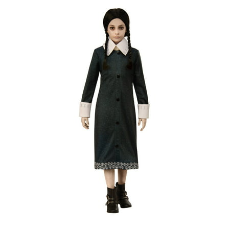 Family Crafts Halloween Costumes (Wednesday of The Addams Family Girls Costume - Size)