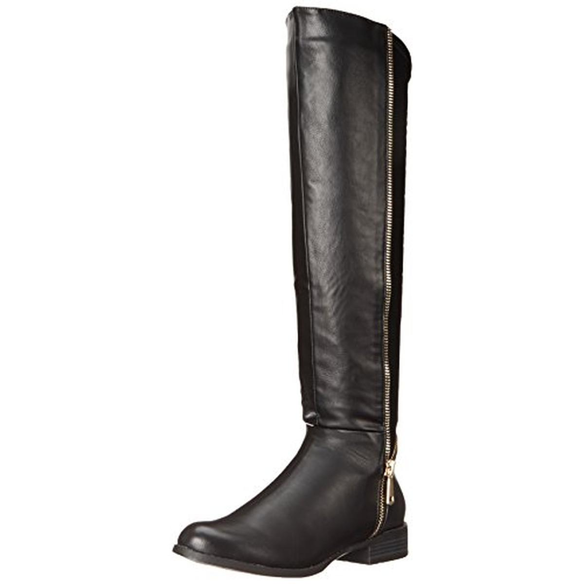 Luichiny Womens Phone Booth Faux Leather Knee High Riding Boots by Luichiny