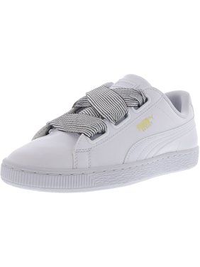 4a267bc7b864d8 Product Image Puma Women s Basket Heart White   Ankle-High Leather Fashion  Sneaker - 10M