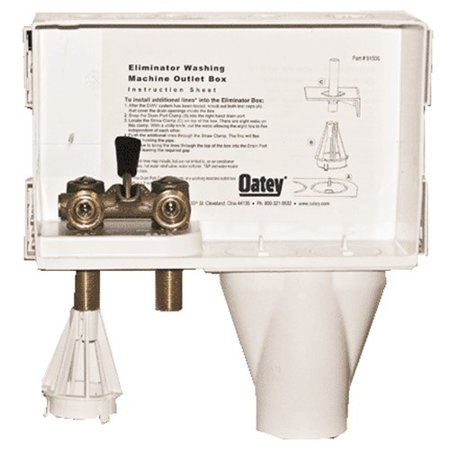 38634 The Eliminator Washing Machine Box Right Outlet W/ Single Lever Valve