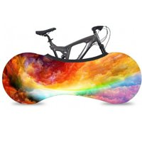 (Rainbow)Bike Cover Bicycle Wheel Cover Indoor Anti-dust Bike Storage Durable Wheel Cover Bike Storage Bag Rip Stop