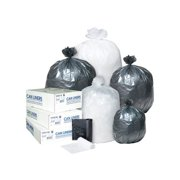 Inteplast Group Interleaved High-Density Trash Bags, 24x33, 16gal, 8mic, BK, 50/RL, 20 RL/CT -IBSS243308K