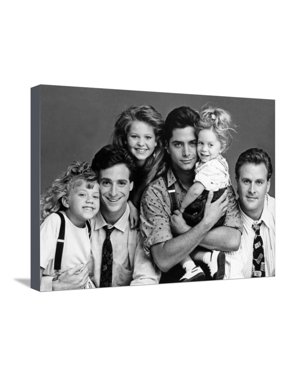 Full House Main Cast Portrait Stretched Canvas Print Wall Art By Movie Star News
