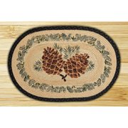 Earth Rugs Large Pinecone Printed Area Rug