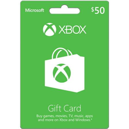 Microsoft Xbox Gift Card $50 (Xbox 65 Dollar Gift Card)