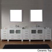 VIRTU USA  Dior 126 inch Double Sink Vanity Set in White