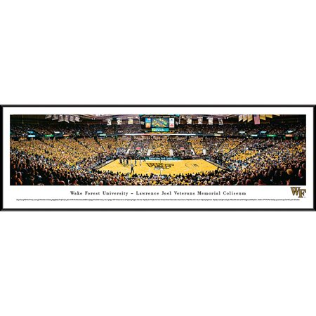- Wake Forest Demon Deacons Basketball at Lawrence Joel Veterans Memorial Coliseum - Blakeway Panoramas NCAA College Print with Standard Frame