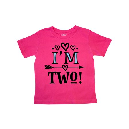 2nd Birthday 2 Year Old Arrow Toddler T-Shirt