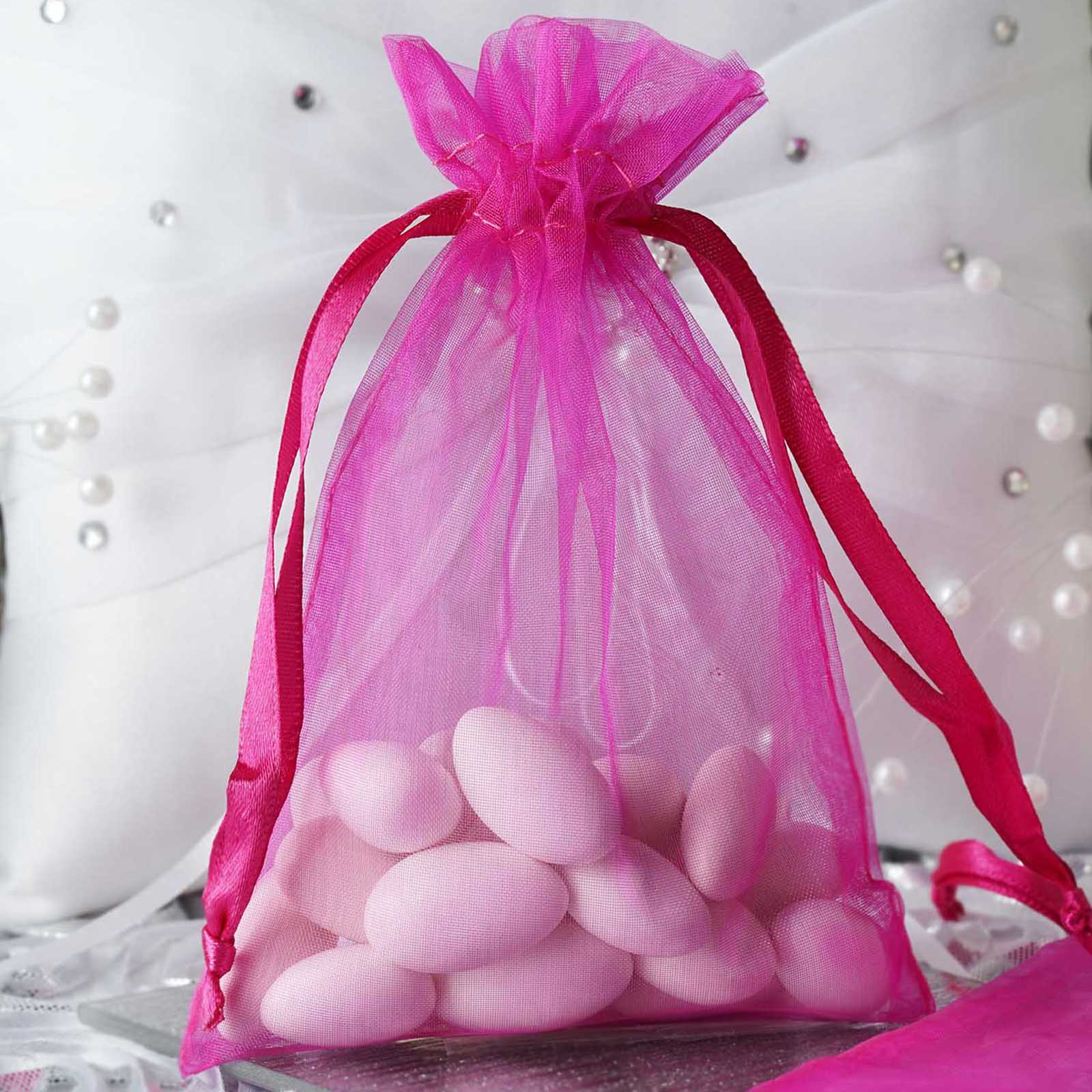 BalsaCircle 10 pcs 4x6 inch Organza Favor Bags - Wedding Party ...