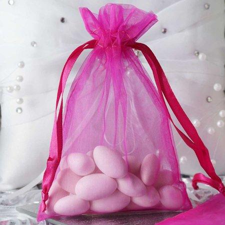 Balsacircle 10 Pcs 4x6 Inch Organza Favor Bags Wedding Party