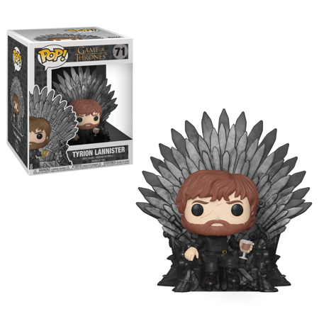 Funko POP! Deluxe: GOT S10 - Tyrion Sitting on Iron Throne (Deluxe Pop)
