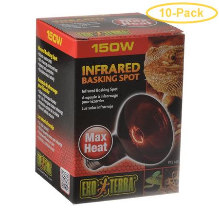 Exo-Terra Heat Glo Infrared Heat Lamp 150 Watts - Pack of 10