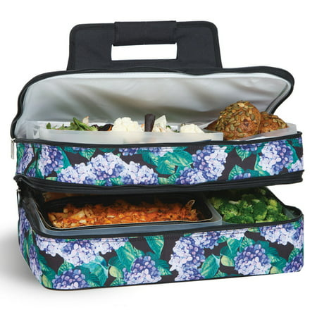 Picnic Plus Entertainer Hydrangea Hot and Cold Food Cooler (Best For Chest Cold)