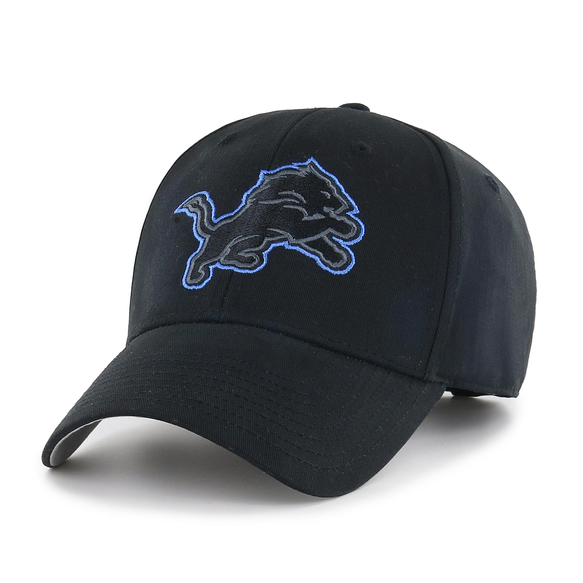 NFL Detroit Lions Black Mass Basic Adjustable Cap/Hat by Fan Favorite