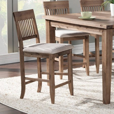 Alpine Furniture Aspen Pub Chair - Iron Brush Antique Natural - Set of 2