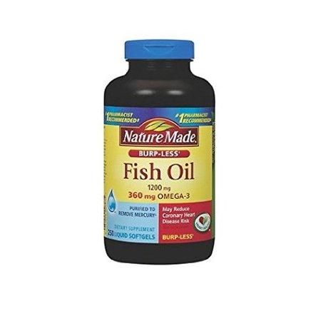 Nature Made Burp Less Fish Oil 1200 Mg 360 Mg Omega 3