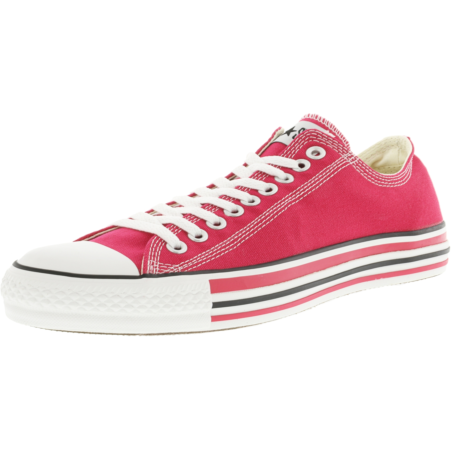 Converse Chuck Taylor Details Oxford Raspberry / White Ankle-High Canvas Fashion Sneaker - 13M 11M
