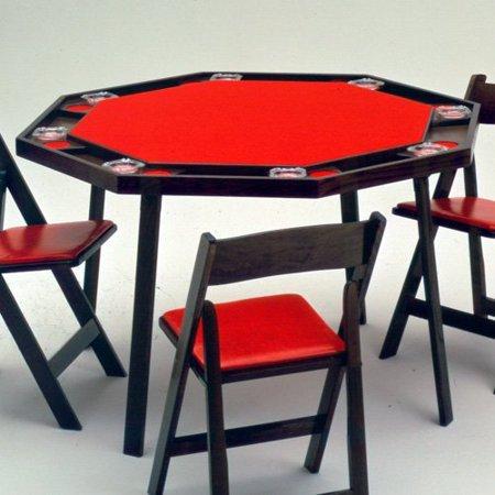 Kestell O 48 Oak Octagonal Folding Poker Table 48 Inch