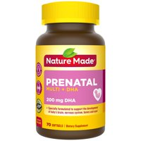 Nature Made Prenatal Multivitamin + DHA Softgels, 70 Count to Support Baby's Development†