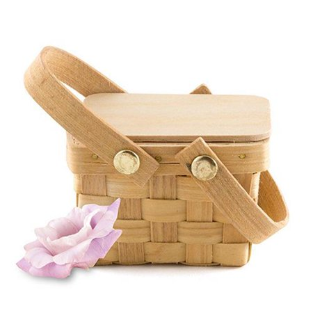 Weddingstar 9155 Miniature Picnic Basket Favor - Picnic Baskets Wholesale
