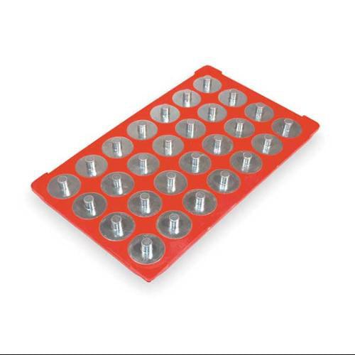 "Triton Magnetic Socket Storage, 3/8"" Drive Size, Plastic, Red, 72422"