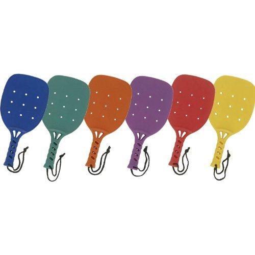Champion Sports Paddle Ball Racket - 15'', Set of 6