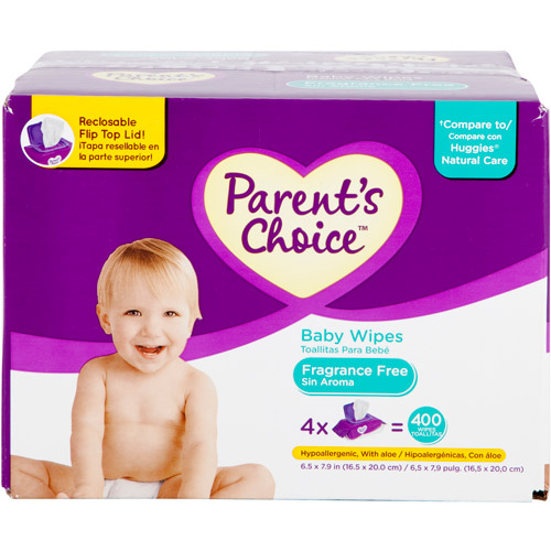 Parent's Choice Unscented Baby Wipes, 400 ct