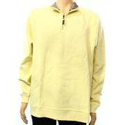 Tasso Elba NEW Lemon Butter Yellow Mens Size Medium M 1/2 Zip Sweater