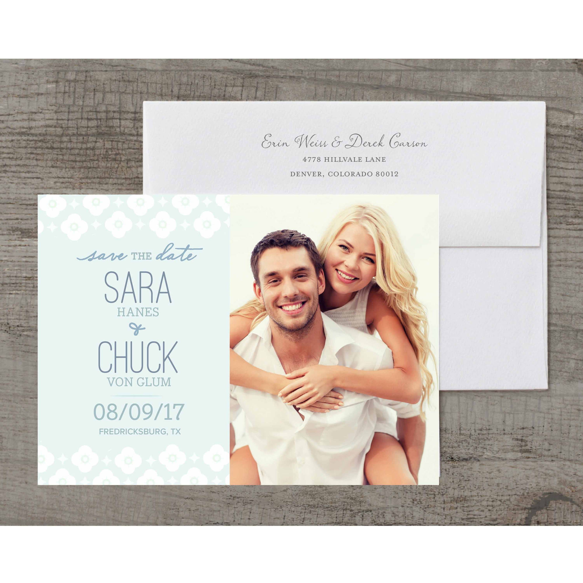 Flowers in Bloom Deluxe Save the Date