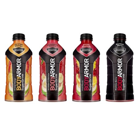BodyArmor SuperDrink, Electrolyte Sport Drink, 4 Flavor Variety Pack, 28 Oz (Pack of 12)](Orange Alcoholic Drinks Halloween)